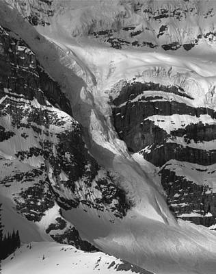 Photograph - 1m3646-bw-river Of Ice On Snowbird Glacier by Ed  Cooper Photography