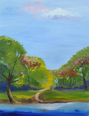 Palo Cedro Painting - River Of Life Like Crystal by Patricia Kimsey Bollinger