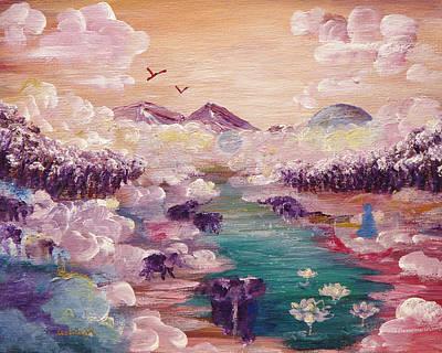 River Of Light Art Print by Ashleigh Dyan Bayer