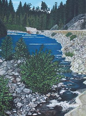 Painting - River Of Peace -2 by Joy Ballack