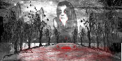 Digital Art - River Of Tears by EricaMaxine  Price