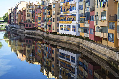 Photograph - River Onyar Girona Spain by Christopher Rees