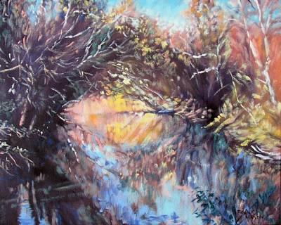 Contemplative Painting - River Passage by Bonnie Mason