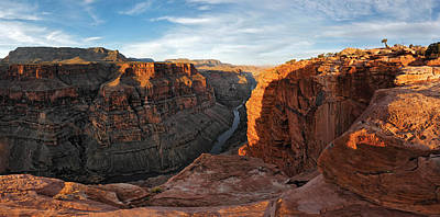 Grand Canyon Photograph - River Passing Through Mountains by Panoramic Images