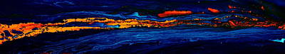 River Path Abstract Art Horizontal Fluid Painting By Kredart Art Print