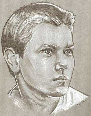 Pheonix Drawing - River Phoenix Drawing by Robert Crandall