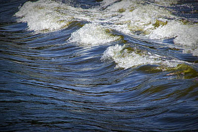 Photograph - River Rapids Detail Of The Grand River by Randall Nyhof