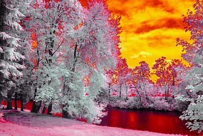 River Red Art Print by Conrad Libby