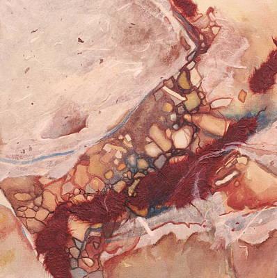 River Rock Art Print by Carlynne Hershberger