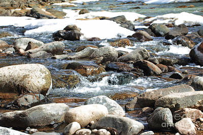 Photograph - River Rock Glow by Mary Haber