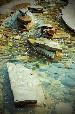 Photograph - River Rock Path by Holly Blunkall
