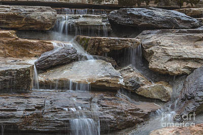 Photograph - River Rock Waterfall by Michael Waters