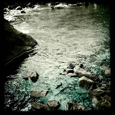 Photograph - River Rocked by Susan Maxwell Schmidt