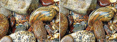 Photograph - River Rocks 11 In Stereo by Duane McCullough