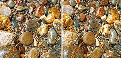Photograph - River Rocks 13 In Stereo by Duane McCullough