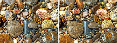 Photograph - River Rocks 15 In Stereo by Duane McCullough