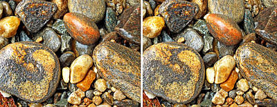 Photograph - River Rocks 16 In Stereo by Duane McCullough