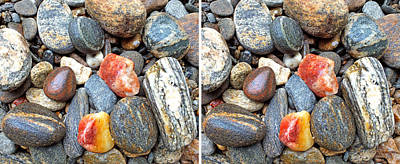 Photograph - River Rocks 18 In 3d Stereo by Duane McCullough