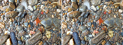 Photograph - River Rocks 19 In 3d Stereo by Duane McCullough