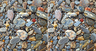 Photograph - River Rocks 20 In 3d Stereo by Duane McCullough