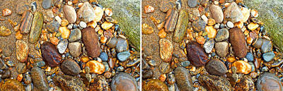 Photograph - River Rocks 9 In Stereo by Duane McCullough