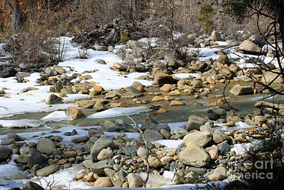 Photograph - River Rocks And Snow by Mary Haber