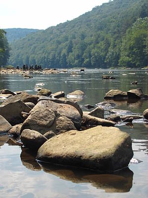 Photograph - River Rocks by Kerry Lapcevich