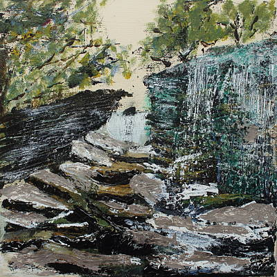 Cumberland River Painting - River Rocks On The Cumberland Plateau by David Cardwell