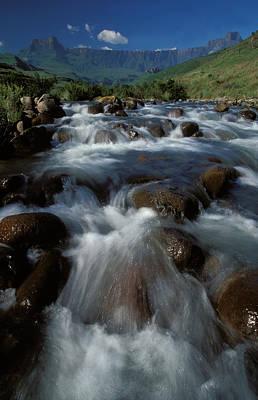 Photograph - River, Royal Natal National Park by Nigel Dennis