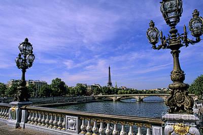 Photograph - River Seine & Eiffel Tower, Paris by Bill Bachmann
