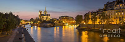 Photograph - River Seine - Paris Night by Brian Jannsen