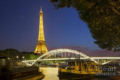 Photograph - River Seine And Eiffel by Brian Jannsen