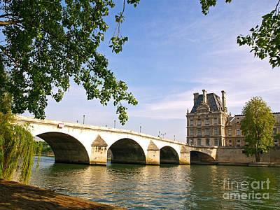 River Seine And The Pont Royal. Art Print