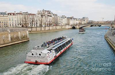 River Seine Excursion Boats Art Print