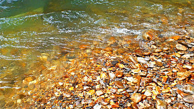 Photograph - River Shore Rocks Filtered by Duane McCullough