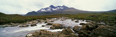 River Sligachan, Distant Mountain Print by Panoramic Images