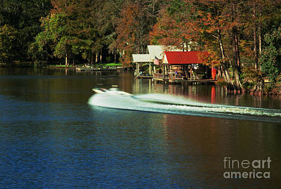 Photograph - River Speed Boat by Ben Sellars