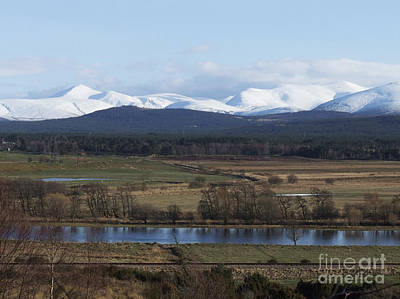 Art Print featuring the photograph River Spey And Cairngorm Mountains by Phil Banks