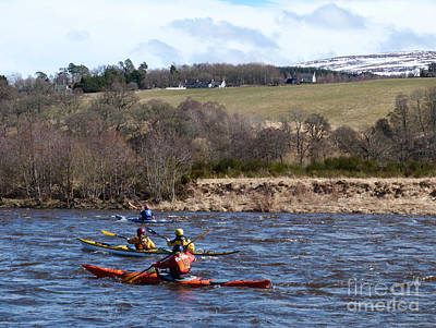 Photograph - River Spey Kayak's by Phil Banks