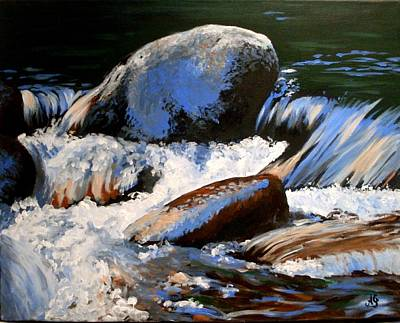 Painting - River Stones by Anne Gardner