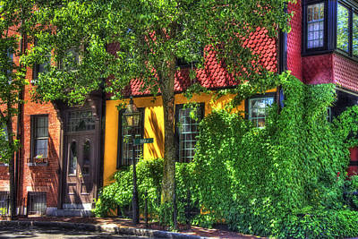 Photograph - River Street - Beacon Hill - Boston by Joann Vitali