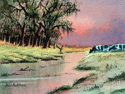 Painting - River Sunrise by Bill Holkham