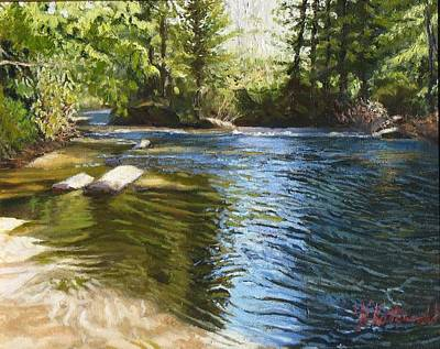 Dupont Painting - River Sunrise by Joseph Kotowski