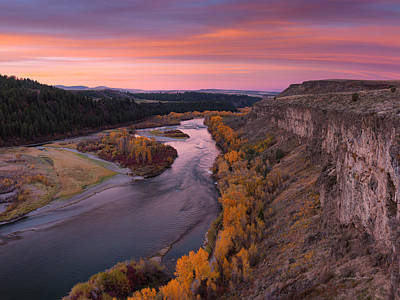 Photograph - River Sunrise by Leland D Howard