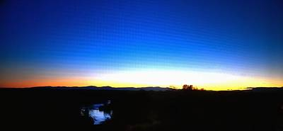 Jerry Sodorff Royalty-Free and Rights-Managed Images - River Sunset 19690 by Jerry Sodorff