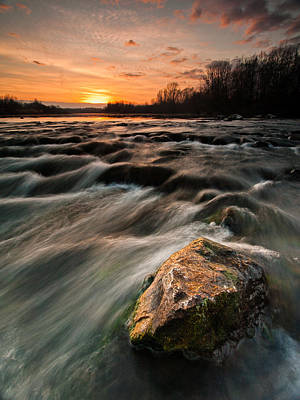 River Sunset Print by Davorin Mance