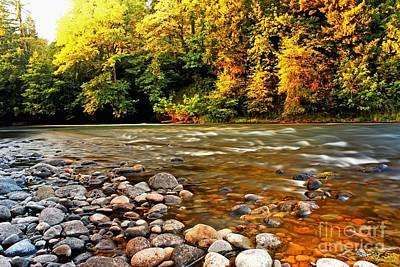 River Sunset Art Print