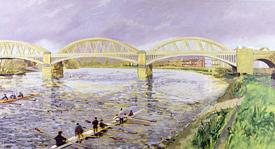 River Thames At Barnes Art Print by Sarah Butterfield