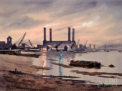 Painting - River Thames At Battersea by Bill Holkham
