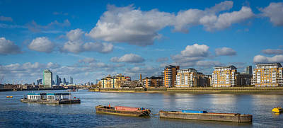 Art Print featuring the photograph River Thames At Greenwich by Gary Gillette